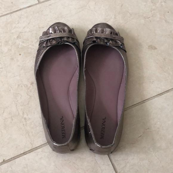Merona Shoes - Merona Dark Silver Flats